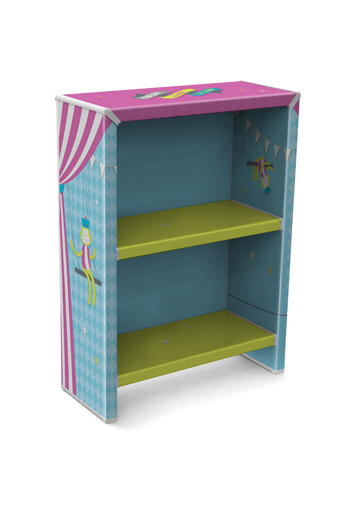 כוננית ספרים לחדרי ילדים 2 מדפים