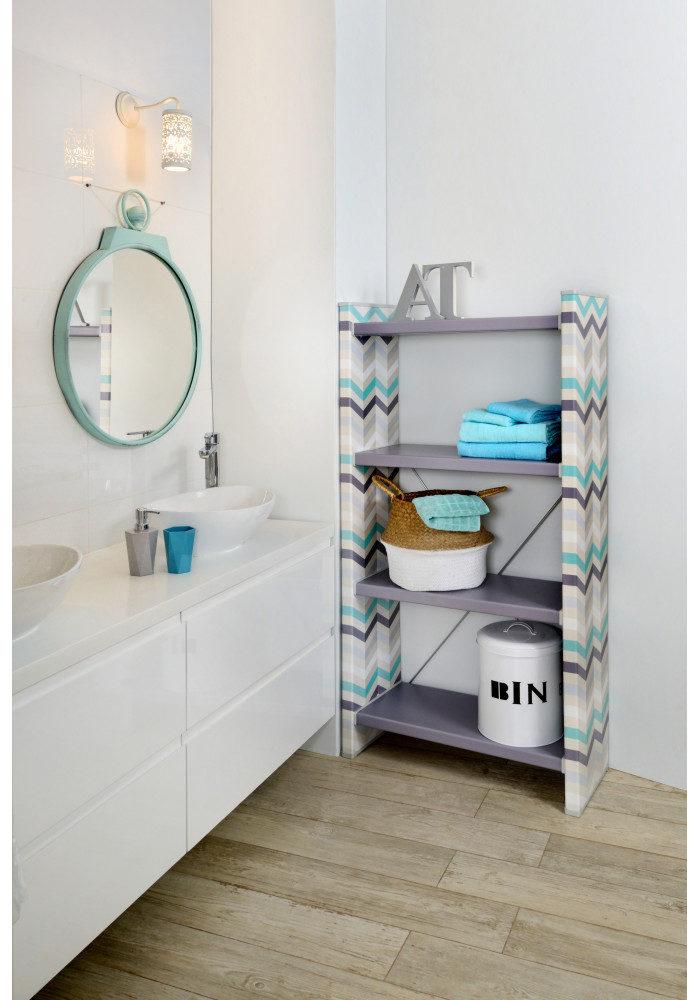 כוננית מדפים מעוצבת לחדר אמבטיה