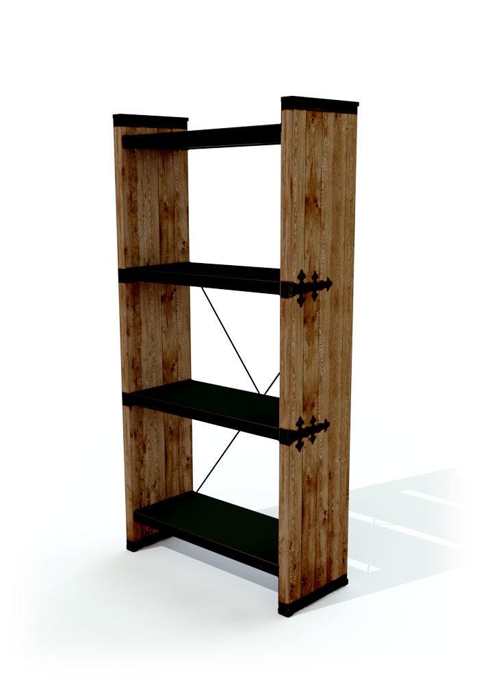 כוננית מדפים מעוצבת עץ